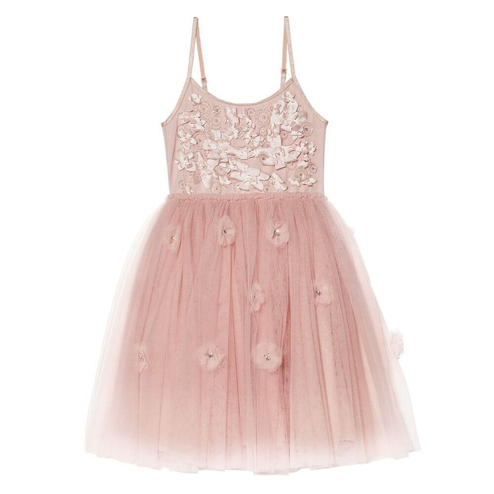 Tutu Du Monde Shimmering Petals Tutu Dress Pink Chablis | Tiny People