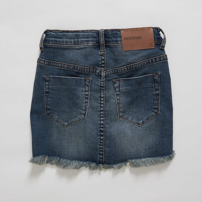 Kids Dirty Indigo 2020 Mini High Waisted Denim Skirt