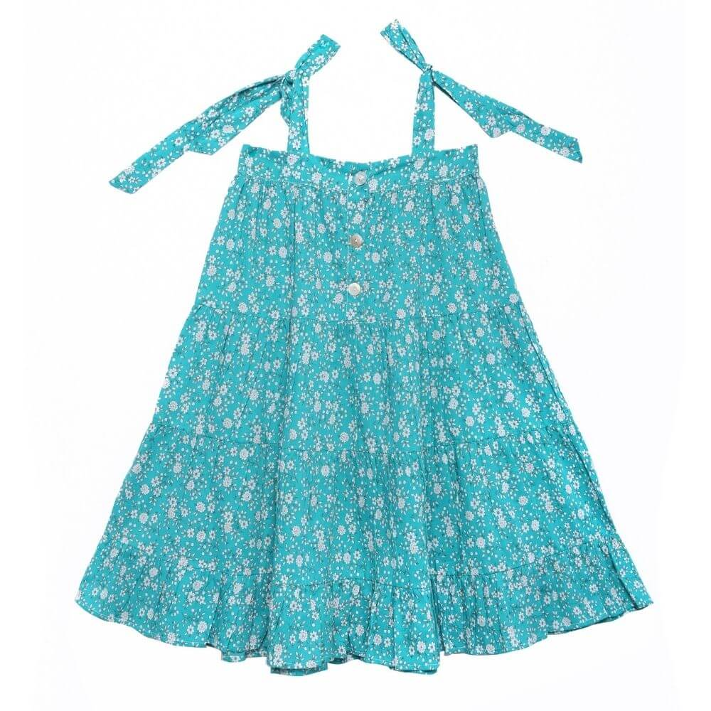 Coco & Ginger April Dress Bluebird Whisper | Tiny People