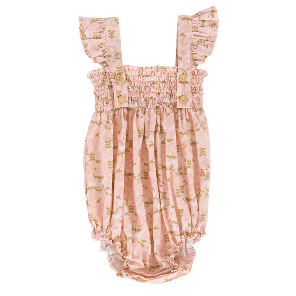 Peggy Edie Playsuit Rainbow Floral | Tiny People