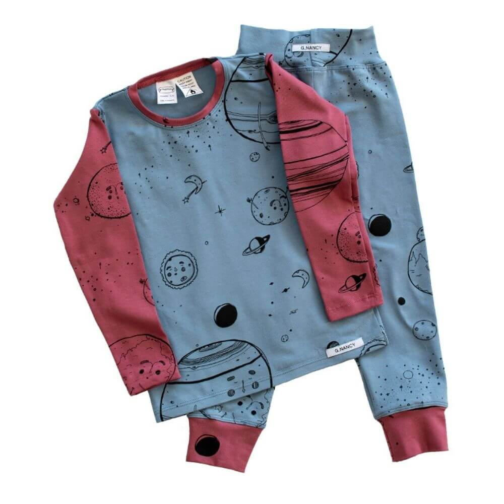 G. Nancy Boys are from Mars Long Sleeve PJ Set | Tiny People