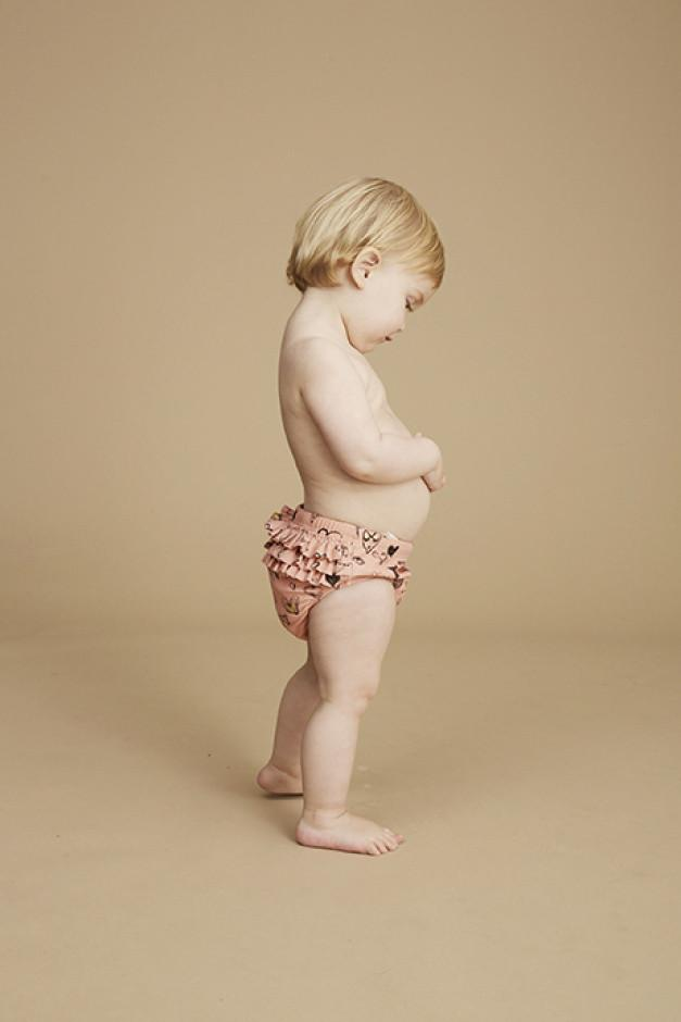 Soft Gallery Mina Swim Pants Coral Almond Heartart - Tiny People Cool Kids Clothes Byron Bay