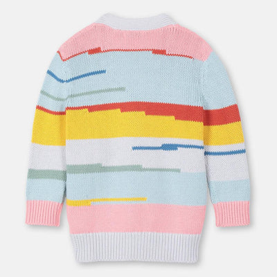Stella McCartney Multicolour Stripes Cotton-Wool Cardigan Cardigan - Tiny People Cool Kids Clothes