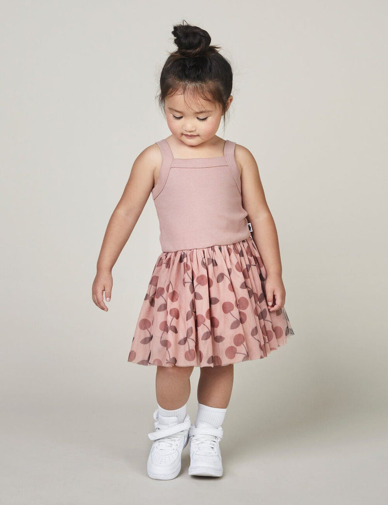 Huxbaby Cherry Summer Ballet Dress Girls Dresses - Tiny People Cool Kids Clothes