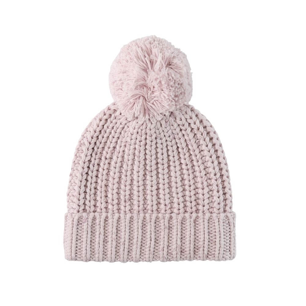 Jamie Kay Cosy Hat Lavender Fleck | Tiny People