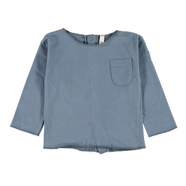 Gray Label Baby Tee Denim Blue - Tiny People Cool Kids Clothes