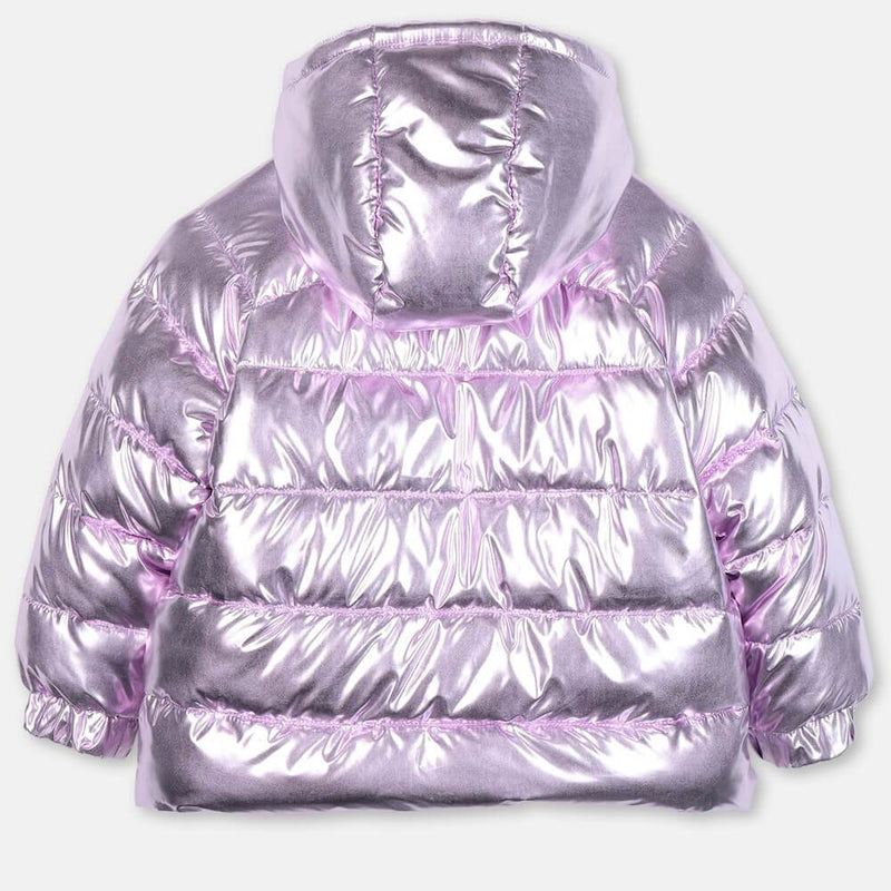 Lilac Foil Puffer Jacket