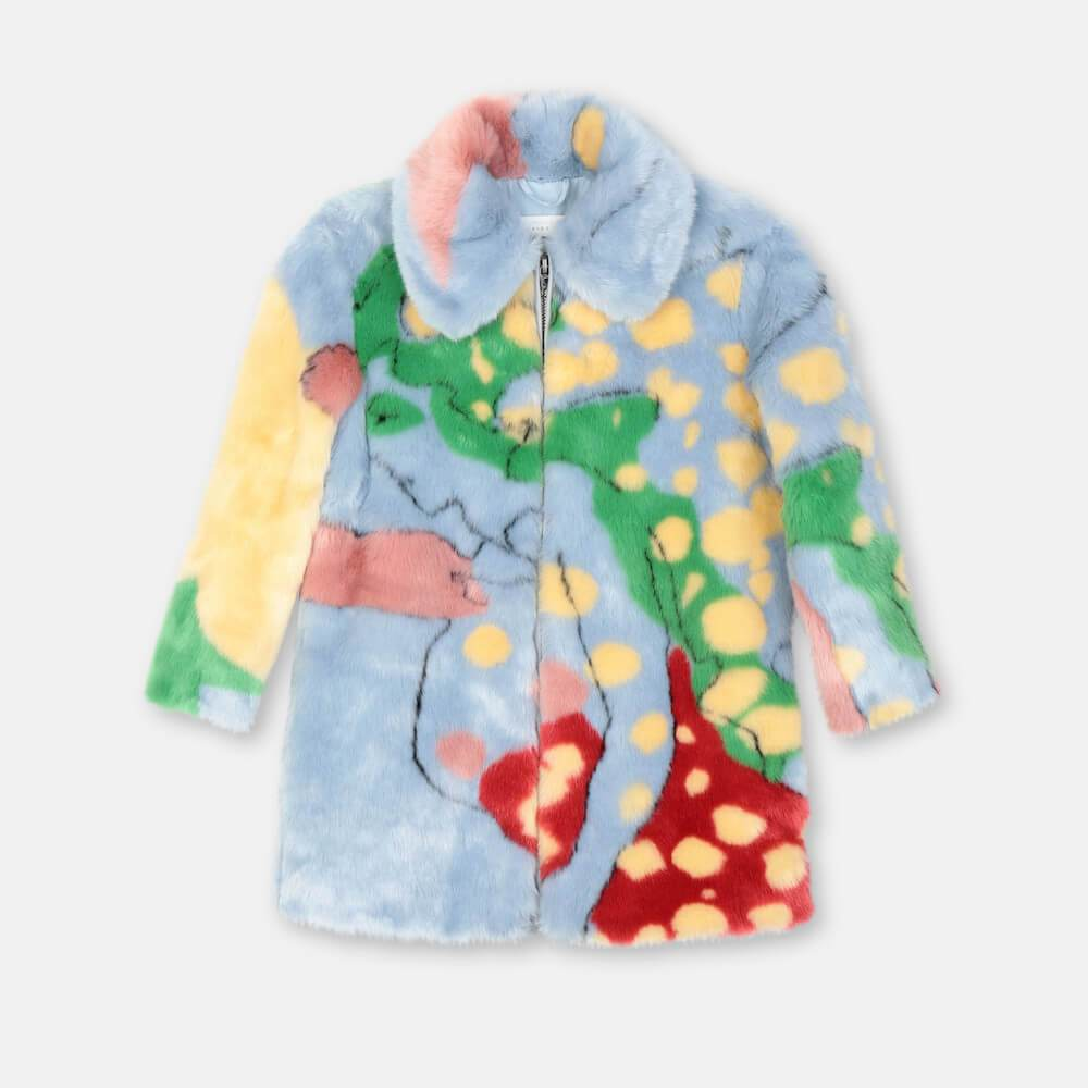 Stella McCartney All Together Now Faux Fur Coat Outerwear - Tiny People Cool Kids Clothes