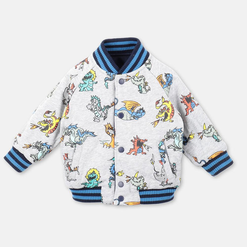 Stella McCartney Dragons Satin Bomber Jacket (Baby) Outerwear - Tiny People Cool Kids Clothes