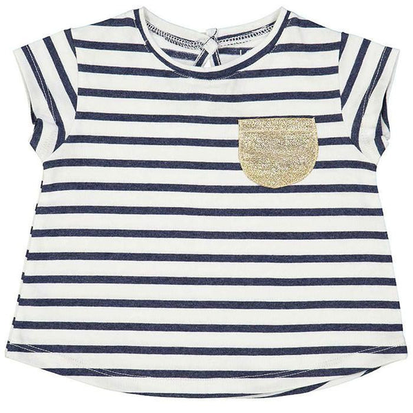 Louis Louise Anae Tee Navy Stripe - Tiny People shop
