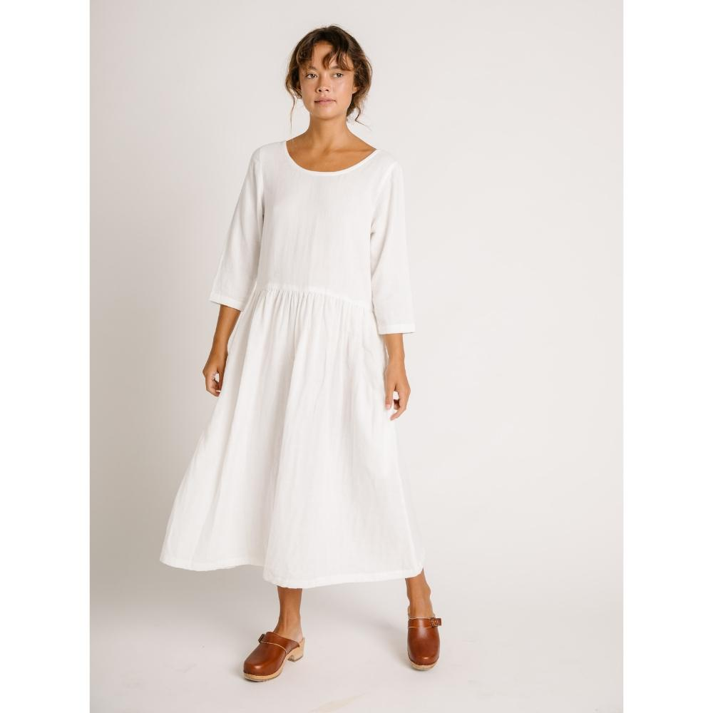 Zinnia Long Sleeve Dress Ivory