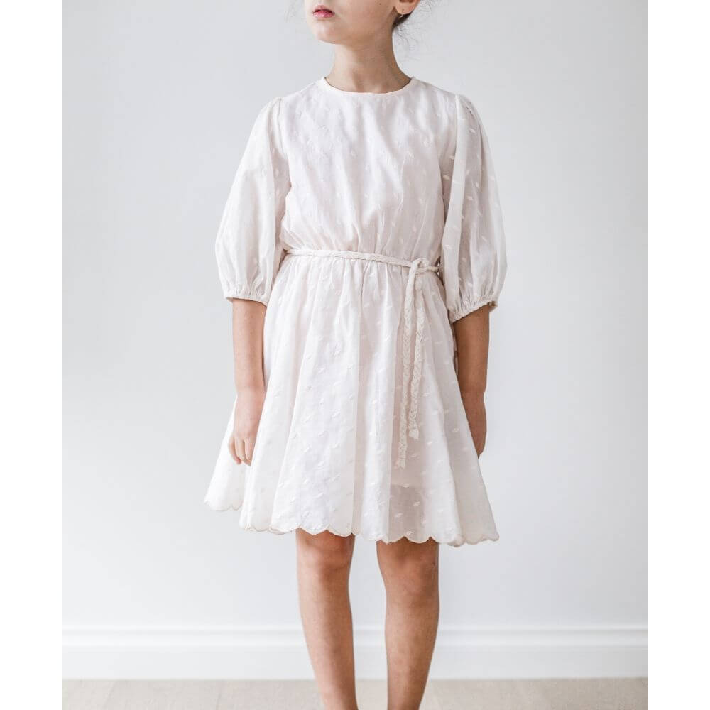 Petite Amalie Full Skirt Dress Petal | Tiny People