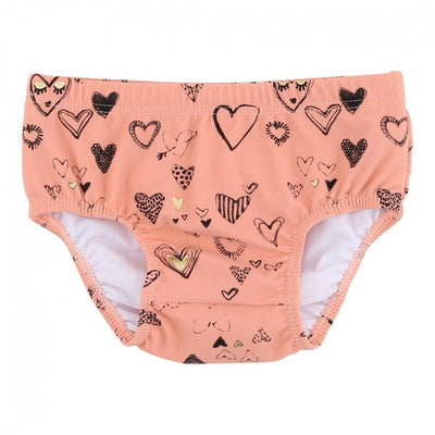 Soft Gallery Mina Swim Pants Coral Almond Heartart swimwear - Tiny People Cool Kids Clothes