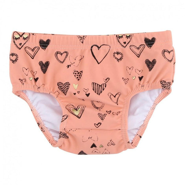 Soft Gallery Mina Swim Pants Coral Almond Heartart - Tiny People Cool Kids Clothes