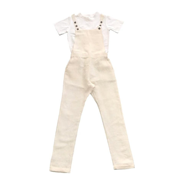 Feather Drum Alexa Overalls Natural - Tiny People Cool Kids Clothes