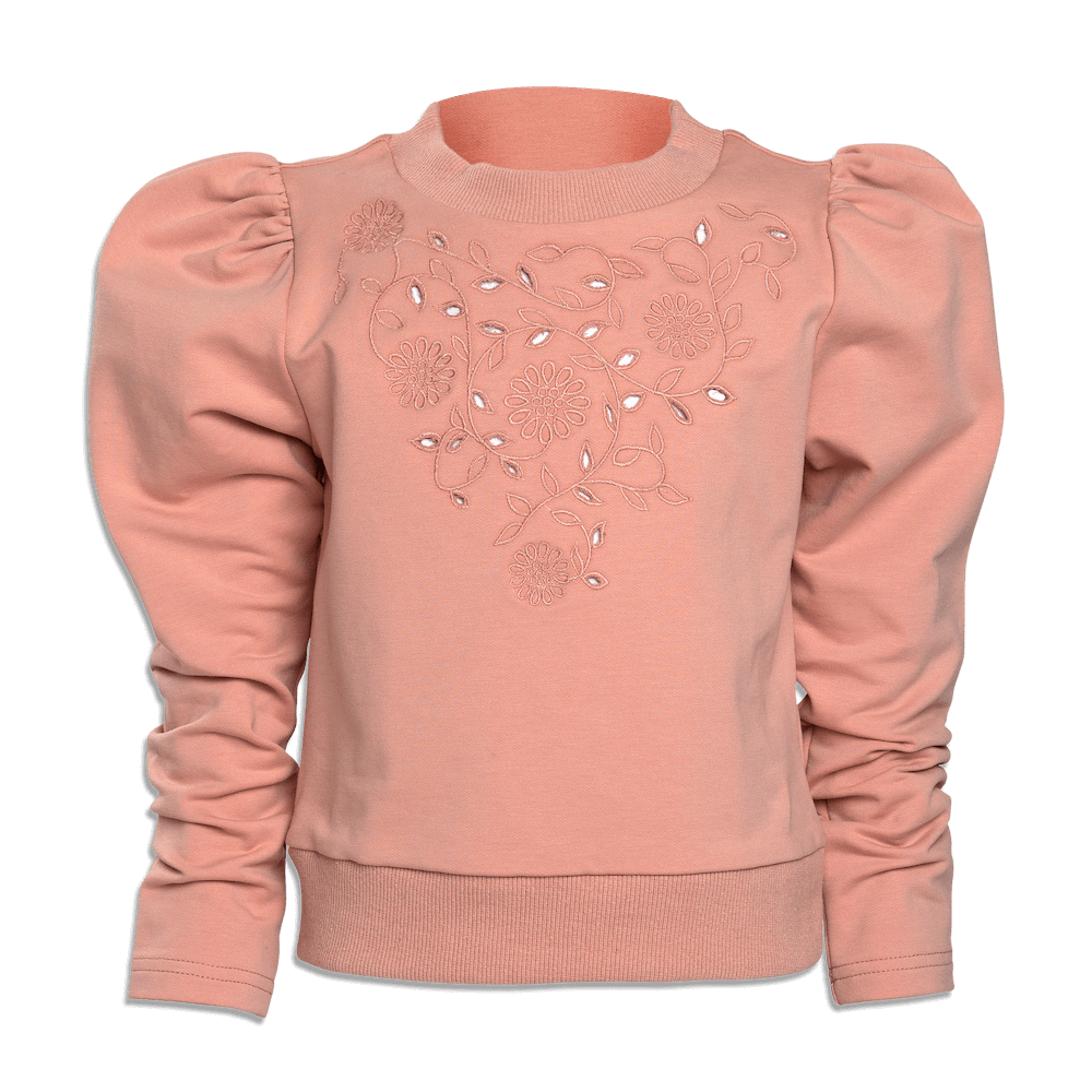Petite Amalie Cut Out Sweat Top Caramel | Tiny People
