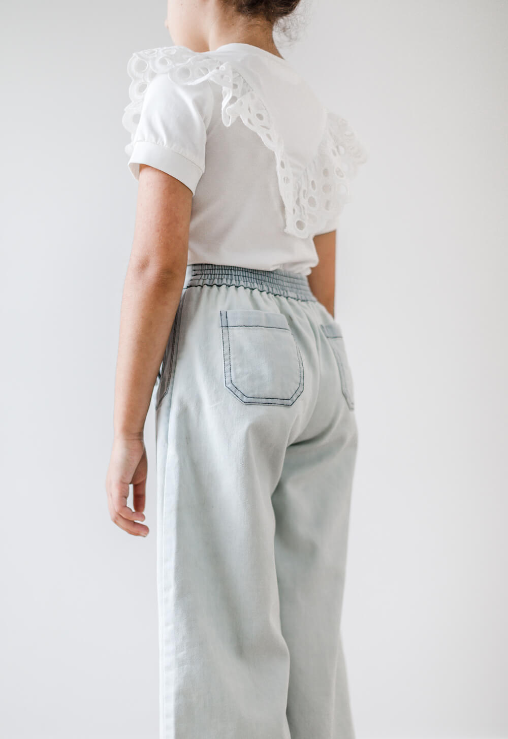 Petite Amalie Denim Button Cullottel | Tiny People