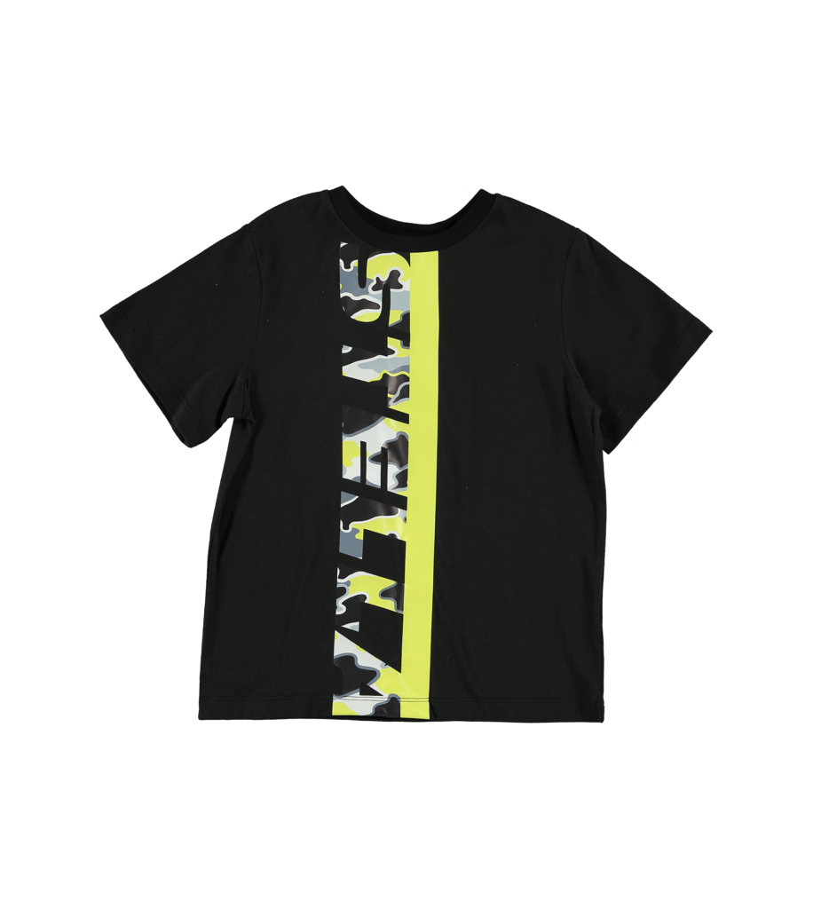 Stella McCartney Black Sport Logo SS Tee Tops & Tees - Tiny People Cool Kids Clothes