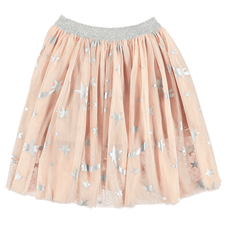 Star Print Tulle Skirt