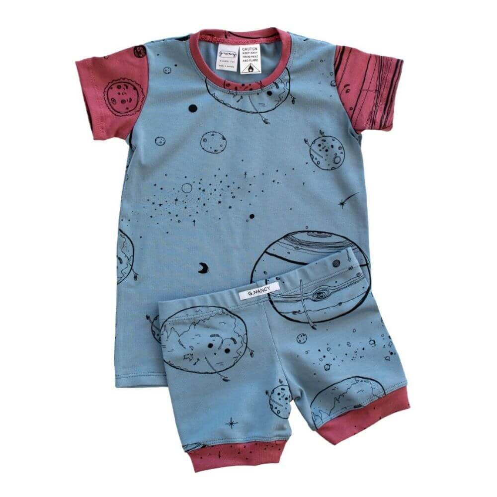 G. Nancy Boys are from Mars Shorties PJ Set | Tiny People
