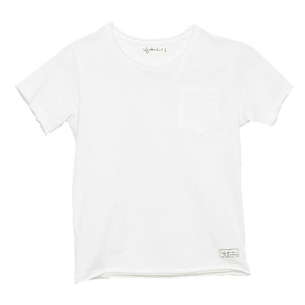 I Dig Denim Como Tee Off White - Tiny People Cool Kids Clothes Byron Bay