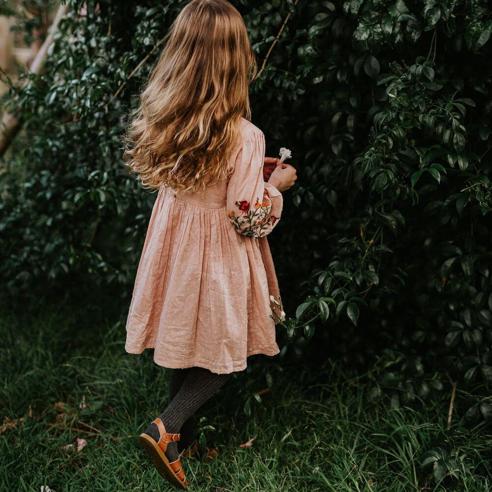 Peggy Rimini Dress Dusty Pink | Tiny People Online Australia