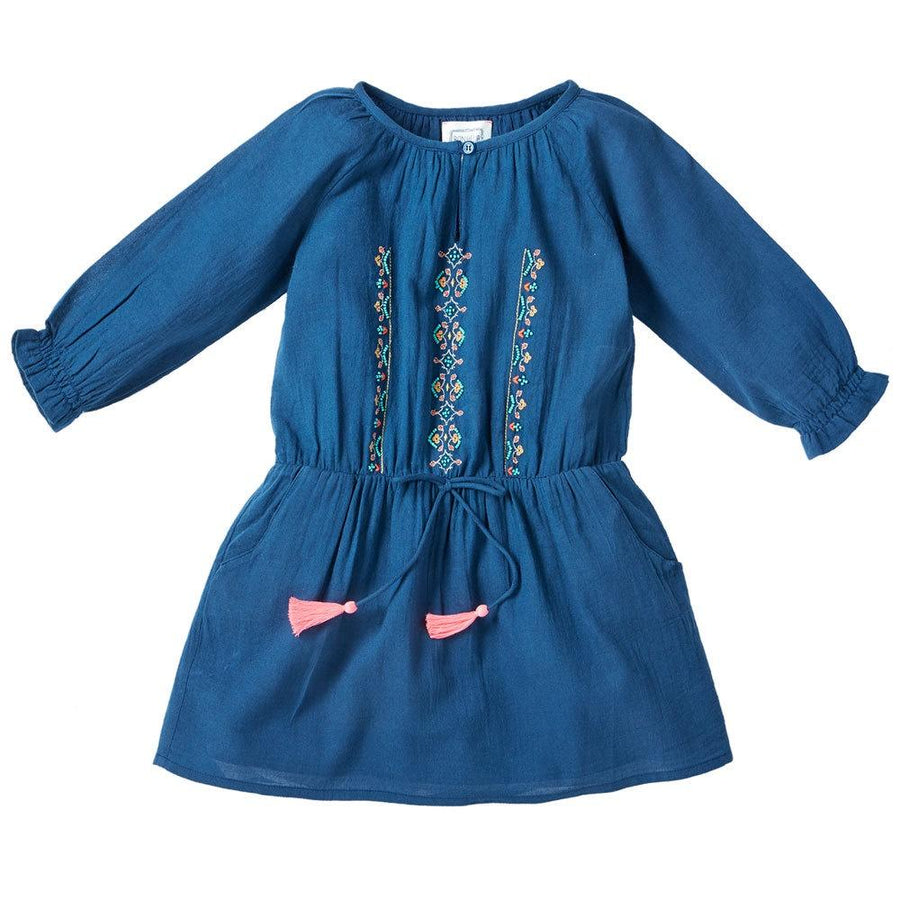 Bonheur Du Jour Fleur Dress Indigo - Tiny People Cool Kids Clothes Byron Bay