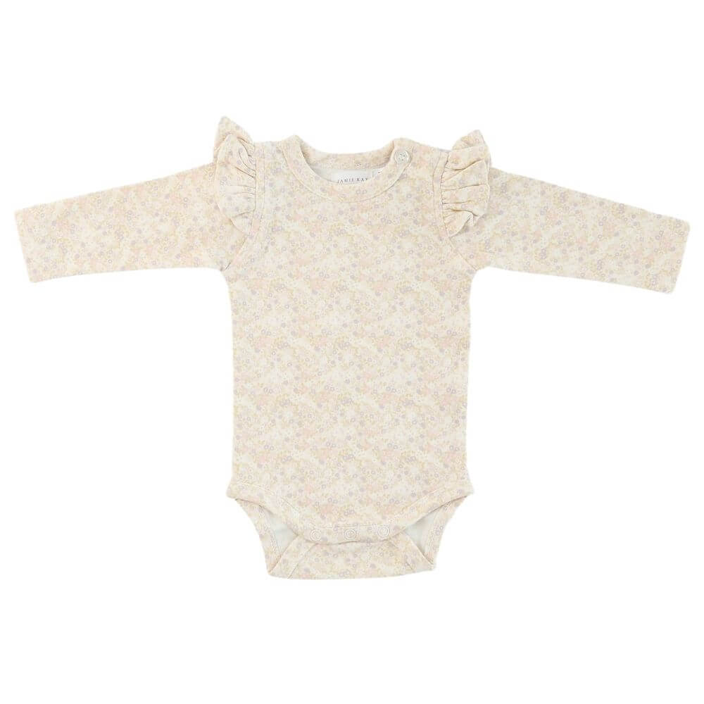Jamie Kay Frill Bodysuit Forget Me Knit | Tiny People