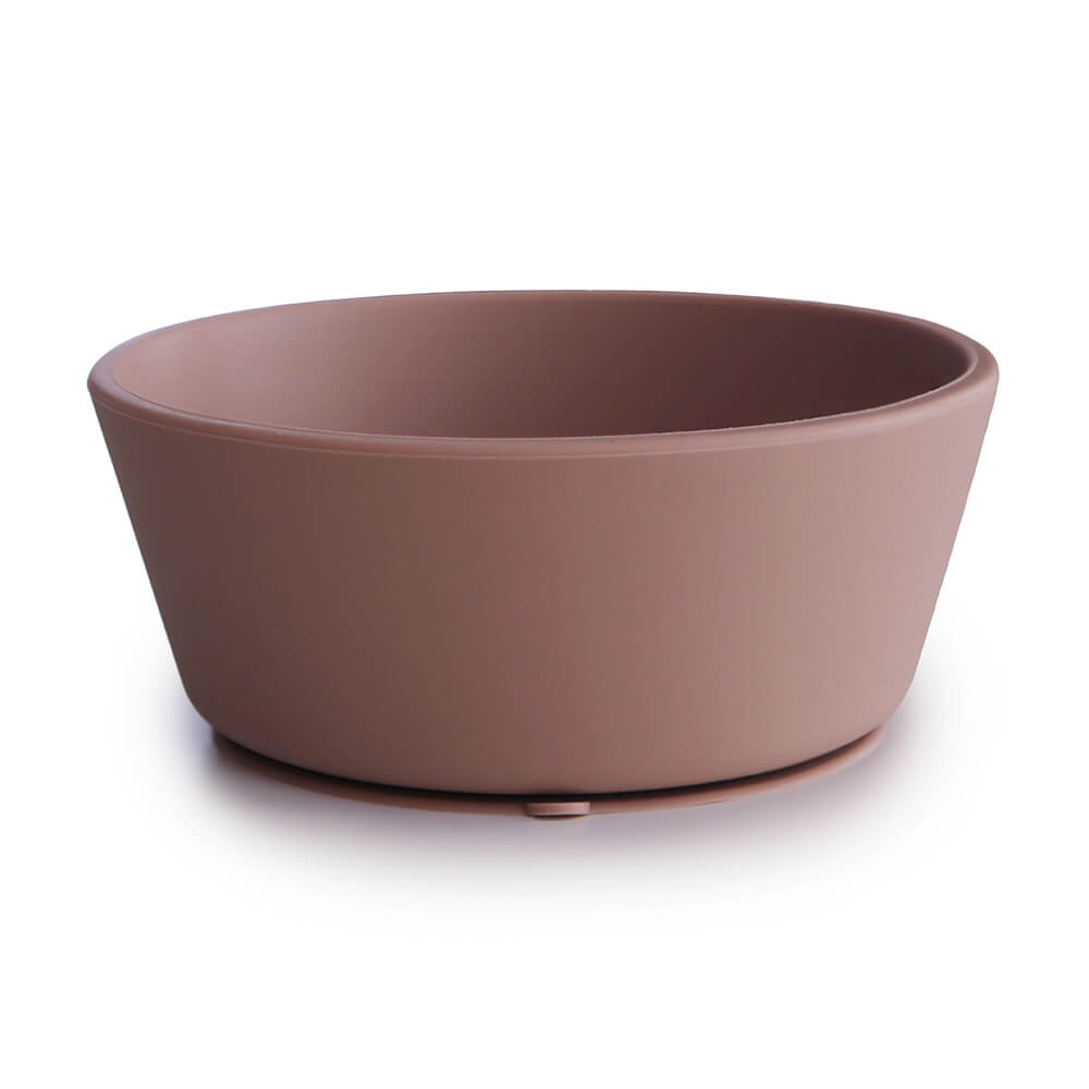 Silicone Suction Bowl Cloudy Mauve