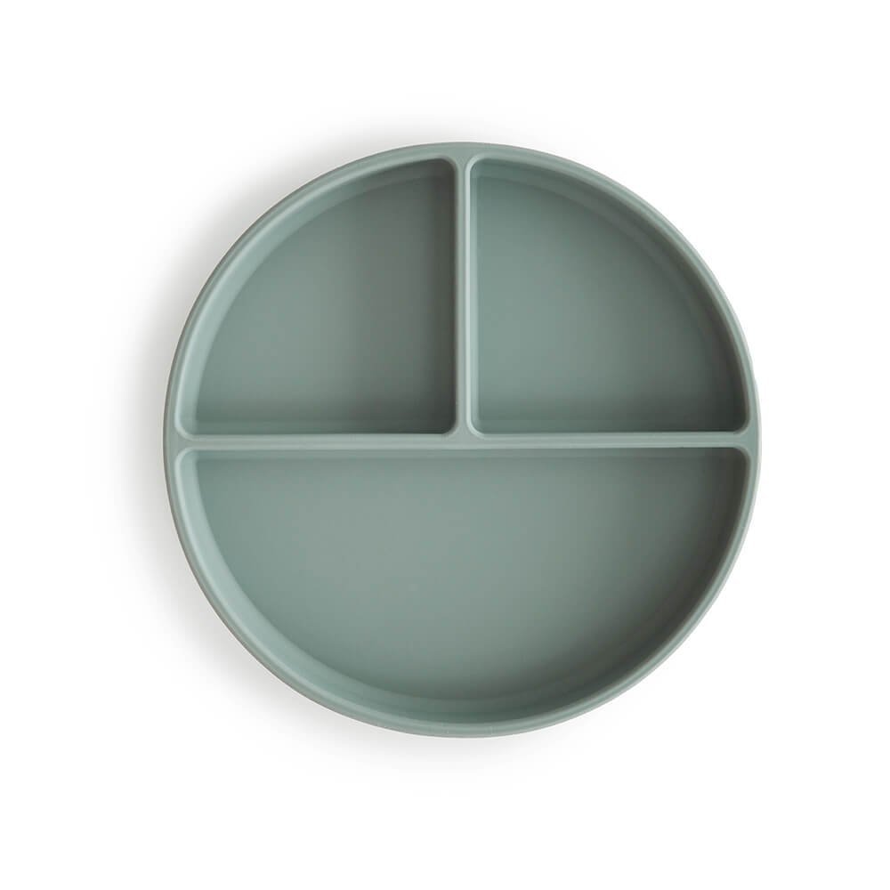 Mushie Silicone Suction Plate Cambridge Blue | Tiny People