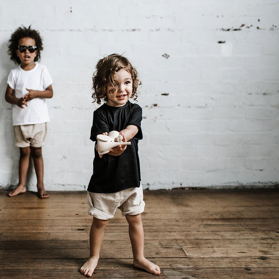 Goldie & Ace Rocco Linen Shorts at Tiny People Shop.