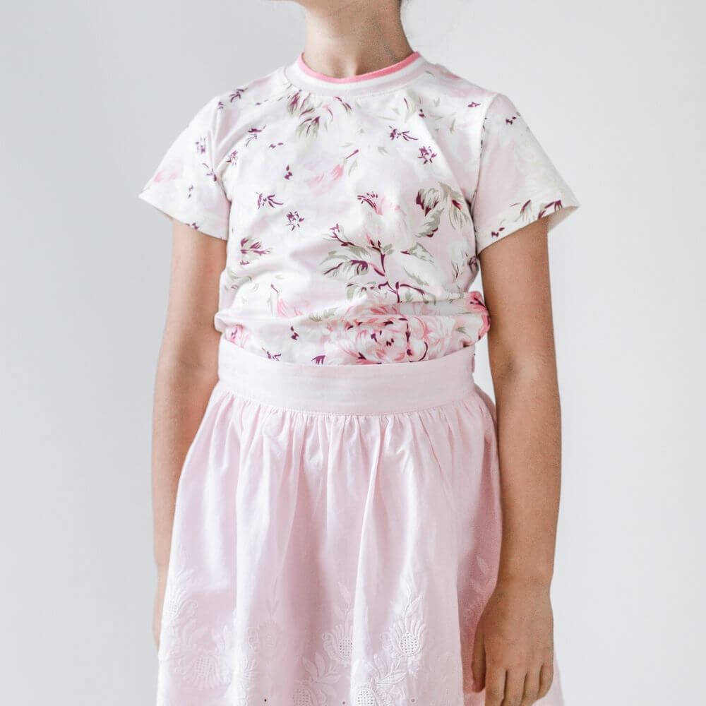 Petite Amalie Printed Rose T-Shirt | Tiny People