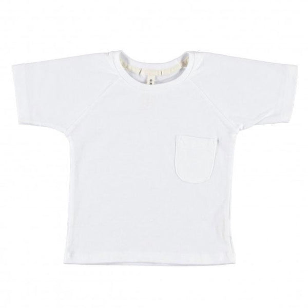 Gray Label Classic Crew Neck Tee White - Tiny People Cool Kids Clothes Byron Bay
