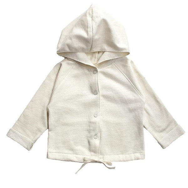 Gray Label Baby Hooded Cardigan Cream - Tiny People Cool Kids Clothes
