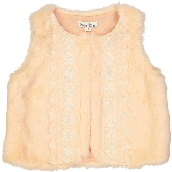 Louise Misha Aquilon Gilet Blush - Tiny People Cool Kids Clothes