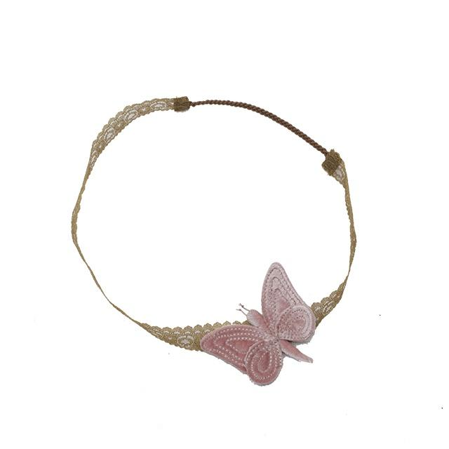 Numero 74 Butterfly Headband Dust Pink Velvet - Tiny People Cool Kids Clothes Byron Bay