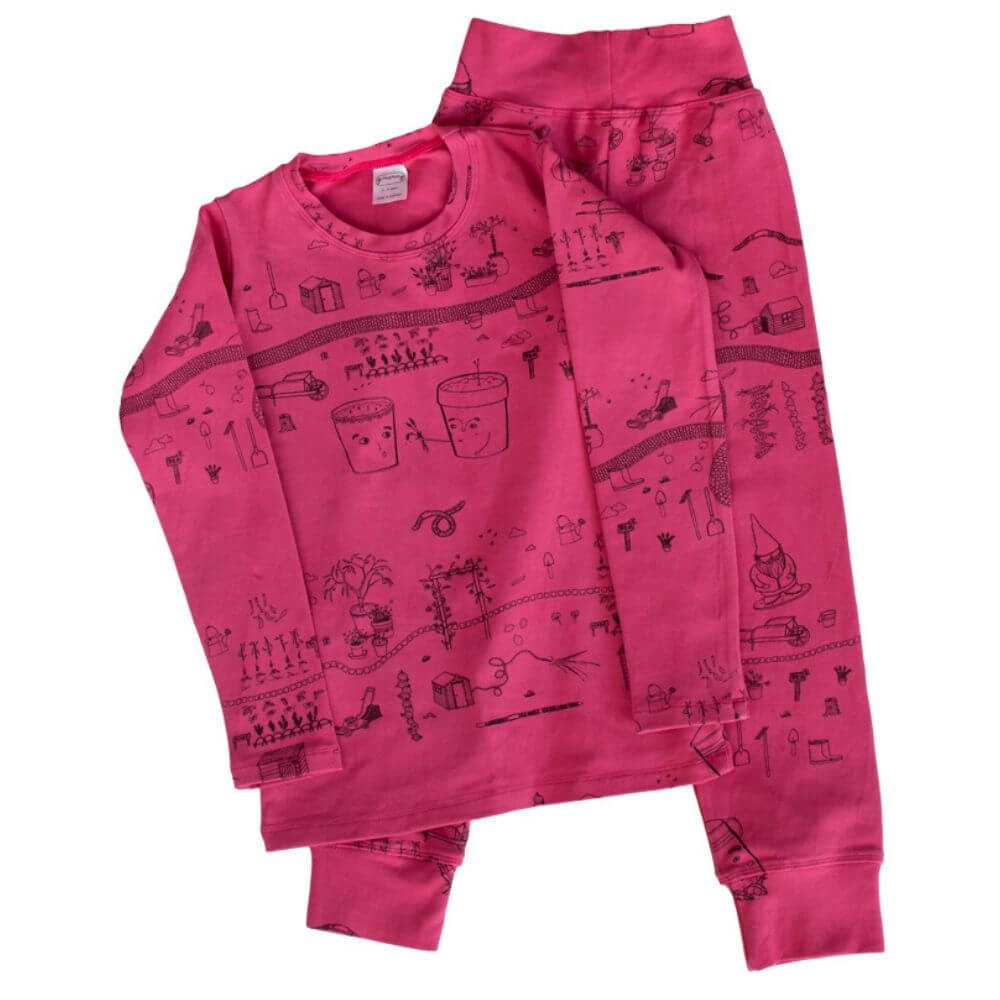 G. Nancy Bougainvillea Garden Long Sleeve PJ Set | Tiny People