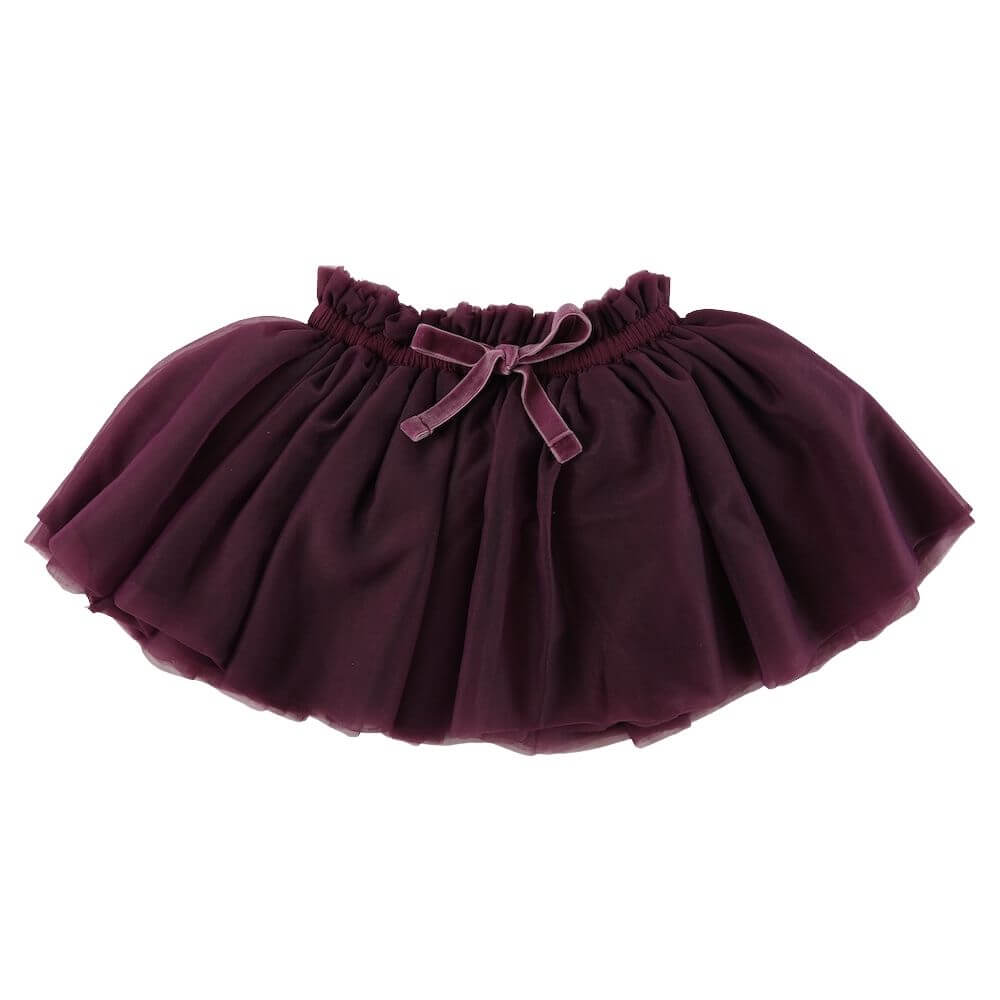 Jamie Kay Soft Tulle Skirt Plum | Tiny People