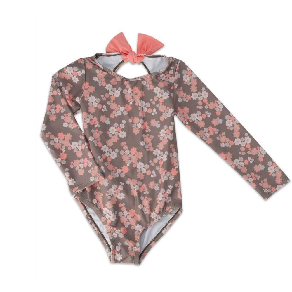 We Roam UPF50+ All in One Rash Guard Blossom / Olive | Tiny People