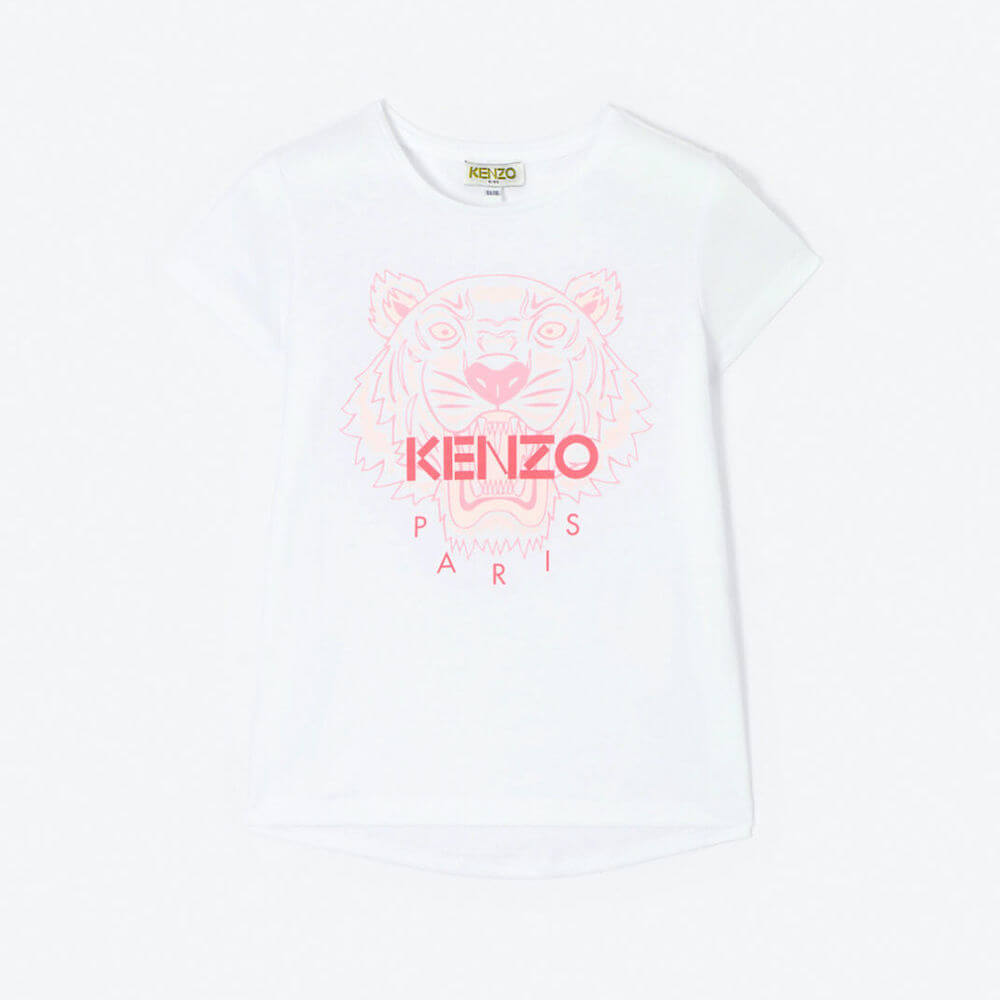 Kenzo Tiger SS Tee (White/Pink) | Tiny People