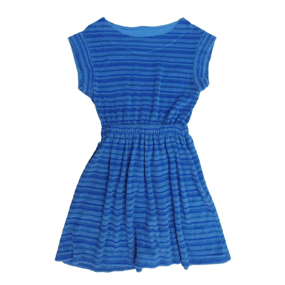 Agnes Boatneck Dress Neon Blue