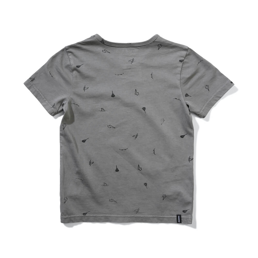 Munster Ashcon Tee Washed Charcoal | Tiny People