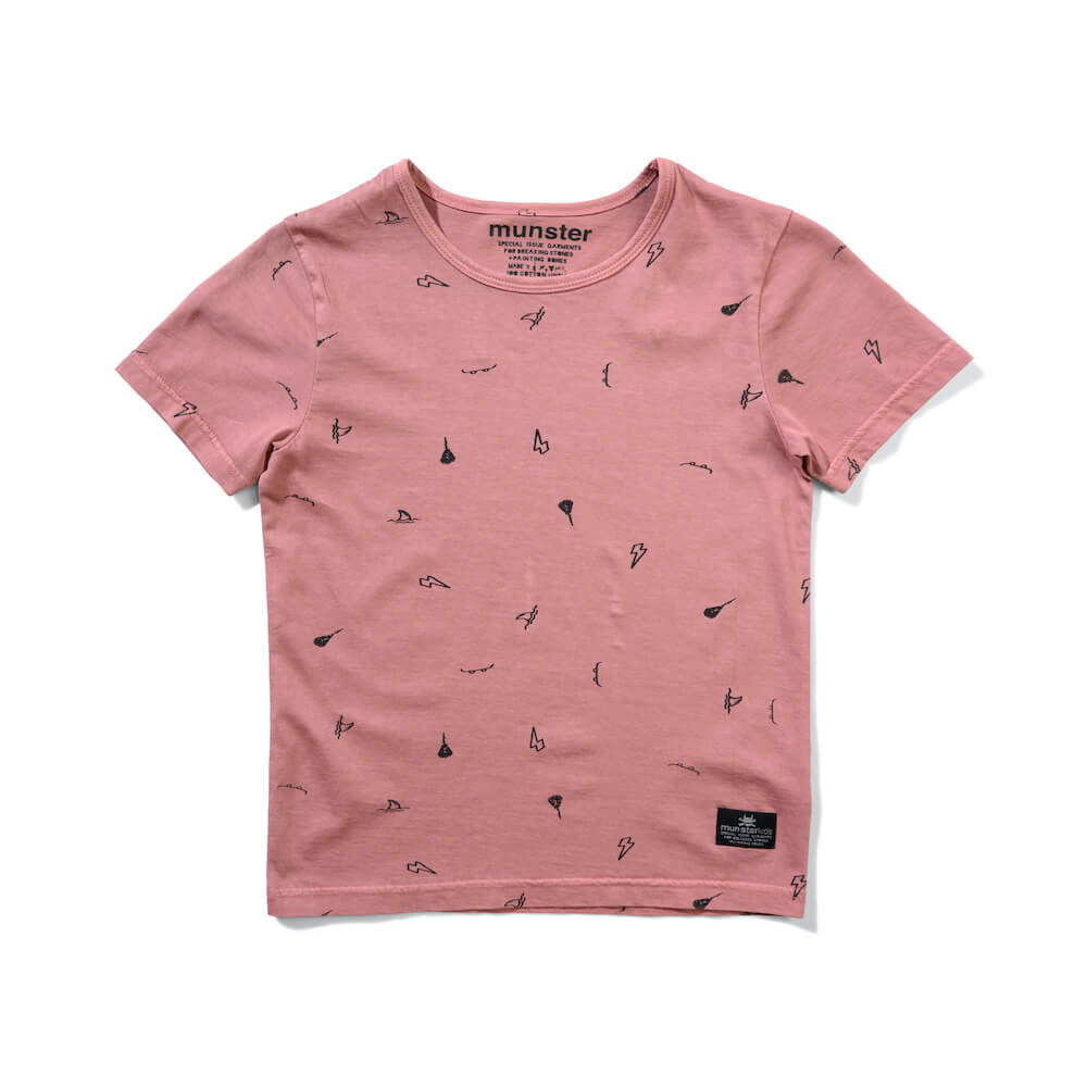 Munster Ashcon Tee Washed Dusty Pink | Tiny People