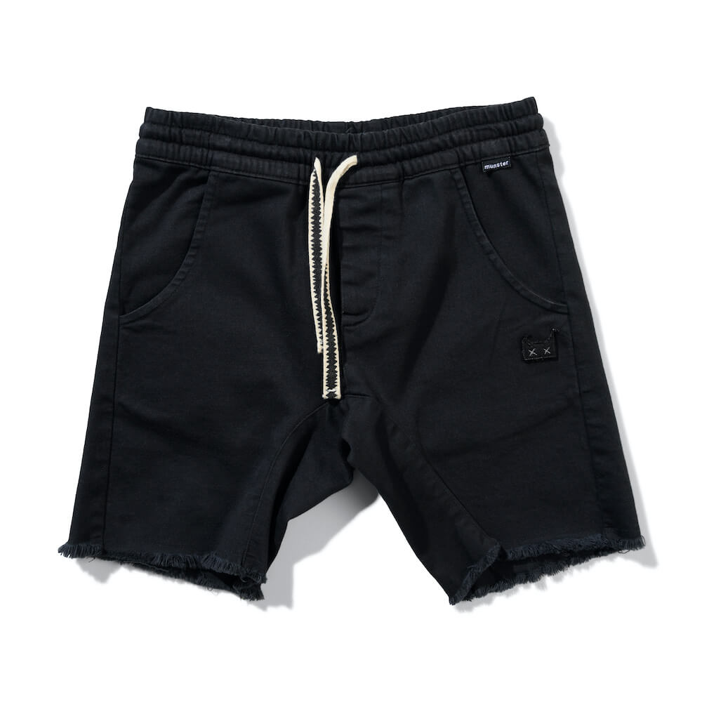 Munster Atlantic 3 Short Washed Black | Tiny People Shop