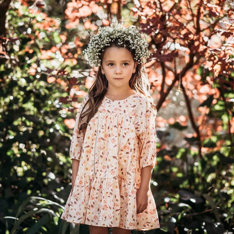 Aubrie Anne of Avonlea Frock Wildflower Floral Girls Dresses - Tiny People Cool Kids Clothes
