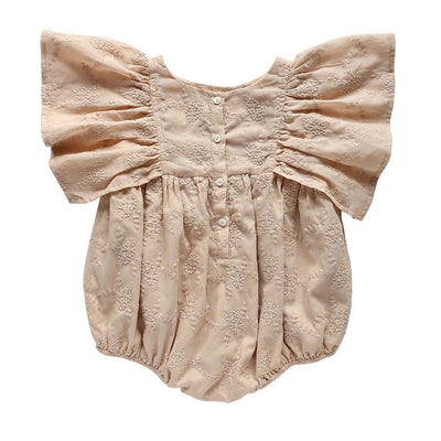 Aubrie Daphne Playsuit Wisteria Broderie Anglaise Romper - Tiny People Cool Kids Clothes