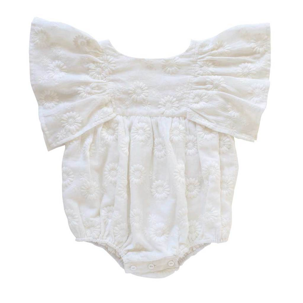 Aubrie Daphne Playsuit Marguerite Broderie Anglaise Romper - Tiny People Cool Kids Clothes