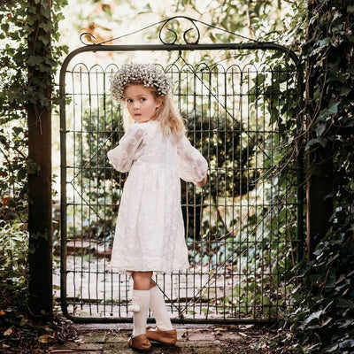 Aubrie Brigetta Dress Marguerite Broderie Anglaise Girls Dresses - Tiny People Cool Kids Clothes