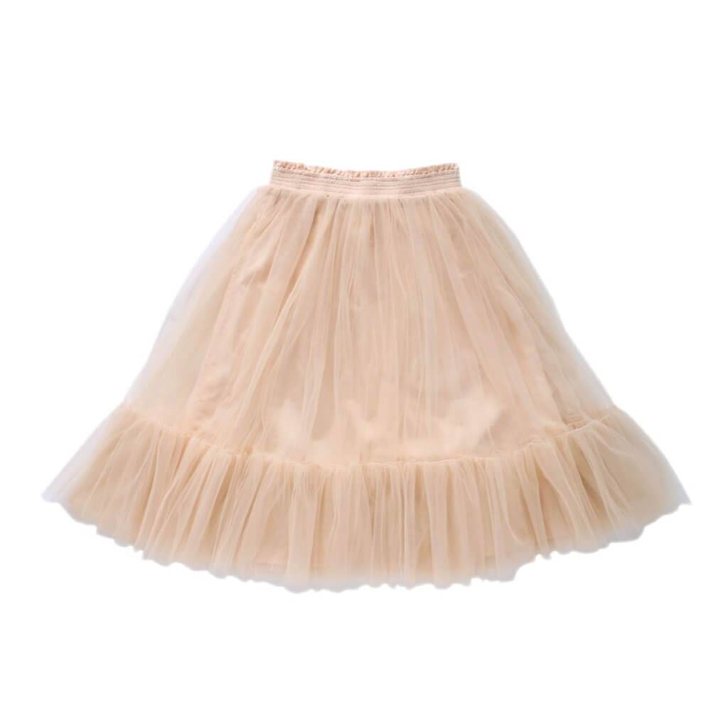 Aubrie Romantic Ruffle Tutu Oatmeal Tulle Dresses | Skirts - Tiny People Cool Kids Clothes