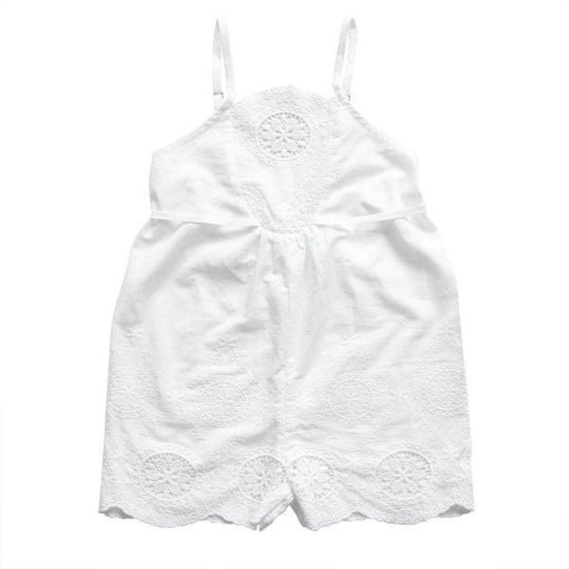 Aubrie Princessa Playsuit - Trellis Broderie Anglaise - Tiny People Cool Kids Clothes Byron Bay